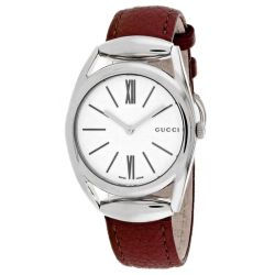 Gucci-YA140403-Womens-Horsebit-White---Quartz-Watch