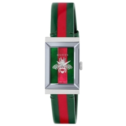 Gucci-YA147408-Womens-G-Frame-Green-and-Red-Mother-of-Pearl-Quartz-Watch