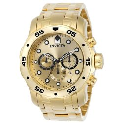 Invicta-0074-Mens-Pro-Diver-Gold-Plated-Quartz-Watch