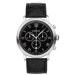 Montblanc-117047-Mens-Tradition-Black-Quartz-Watch