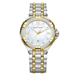Maurice-Lacroix-AI1004-DY503-171-1-Womens-Aikon-White-Mother-of-Pearl-Quartz-Watch