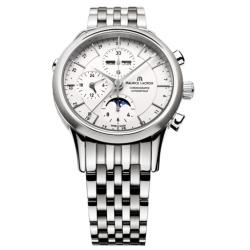 Maurice-Lacroix-LC6078-SS002-13E-Mens-Les-Classiques-Phase-De-Lune-Silver-Tone-Automatic-Watch