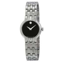 Movado-0606338-Womens-Stainless-Steel-Black-Quartz-Watch