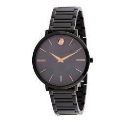 Movado-0607211-Womens-Ultra-Slim-Black-Mother-of-Pearl-Quartz-Watch