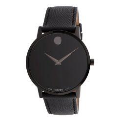 Movado-0607421-Mens-Museum-Black-Quartz-Watch