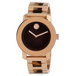 Movado-3600189-Womens-Bold-Brown-Quartz-Watch