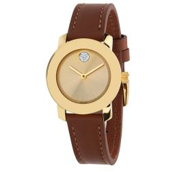 Movado-3600437-Womens-Bold-Gold-Quartz-Watch