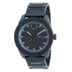 Movado-3600607-Mens-Bold-Black-Blue-Quartz-Watch