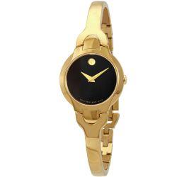 Movado-606936-Womens-Kara-Black-Quartz-Watch