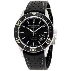 Raymond-Weil--2760-TR1-20001-Mens-Freelancer--Black-Automatic-Watch