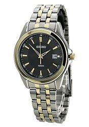 Seiko-SGEG90-Mens-Stainless-Steel-Gray-Quartz-Watch