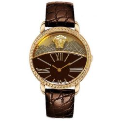 Versace-93Q80BD598S497-Womens-Genuine-Leather-Gold-Tone-Quartz-Watch