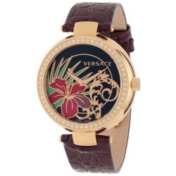 VERSACE-I9Q81D9HI-S702-Womens-Mystique-Hibiscus-Black-Quartz-Watch