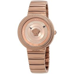Versace-VLC140017-Womens-V-METAL-ICON-Rose-Gold-Tone-Quartz-Watch